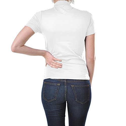 8ad7e7e8b23 Kuda Moda 2 Pack Women Seamless Short Sleeve Mock Neck Turtleneck Blouse  Top Tee Shirts (