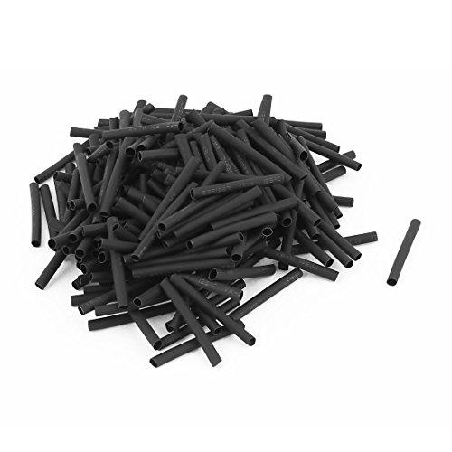 Wire Wrap Sleeve 3mm Dia 30mm Long Heat Shrink Tubing 360pcs Black