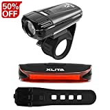 XLITA USB Rechargeable Bike Light Kit Waterproof Super Light Free Tail Light,Easy to Install Suitable for Mountain Bikes Road Bikes Review