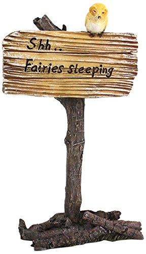 Top Collection Miniature Fairy Garden and Terrarium Shh Fairies Sleeping Sign