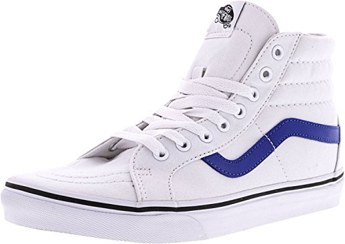 Vans Canvas Sk8-Hi Reissue Sneakers (True White/Blue) Mens High-Top - Priority Mail Tracking First