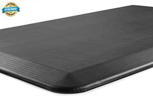 ComfiLife Anti Fatigue Floor Mat – Perfect Kitchen Mat, Standing Desk Mat – Comfort at Home, Office, Garage – Durable – Stain Resistant – Non-Slip Bottom – Black, 20''x32'' by ComfiLife (Image #2)