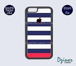 iPhone 6 Plus Case - Blue Pink Stripes Design iPhone Cover