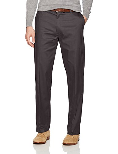Charcoal Dress Gray Pants (LEE Men's Total Freedom Stretch Relaxed Fit Flat Front Pant, Charcoal, 30W x 32L)