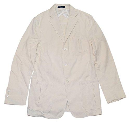 RALPH LAUREN Polo Mens Corduroy Blazer Jacket Sport Coat Italy White Cream (Ralph Lauren Corduroy Blazer)