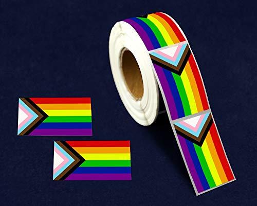 ''Progress Pride'' Daniel Quasar Flag Stickers (4 Rolls)