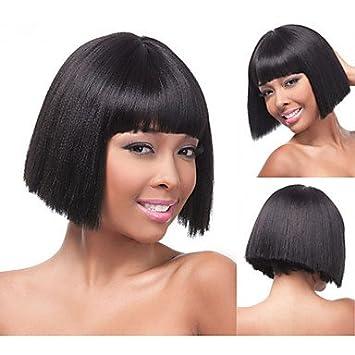 OOFAY JF® bob peluca sintética de las pelucas cabello rubio y lacio corto para las