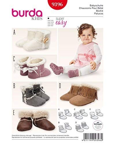 Burda Baby Booties Sewing Pattern 9396 by Burda   B010VUWYES