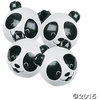 Inflatable Panda Bear Beach Balls - 12 ct