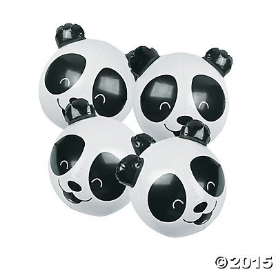 (Inflatable Panda Bear Beach Balls - 12 ct)