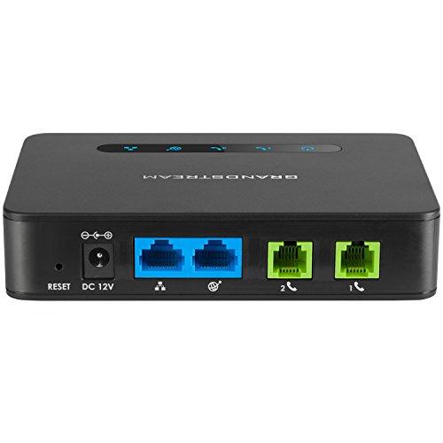 Grandstream HT812 2 FXS Analog Telephone Adapter VoIP FAX Gateway WAN LAN