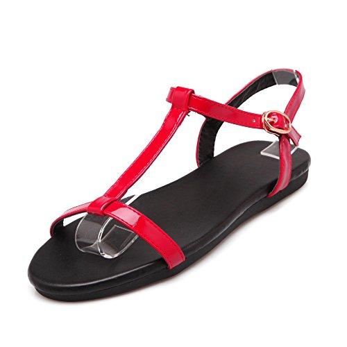 Cinturino Tacco rosso QIN Caviglia Piatto Donna Alla amp;X Sandali AFxpIOqw