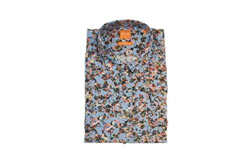 BOSS Orange HEMD EDASLIME FARBE BLAU MUSTER 451