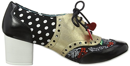 Bow Donna Brouge Stringate Poetic Irregular Black Clara Scarpe Licence Oro by Choice Gold M 6BB8zXq