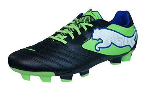 86302ec2ad63 PUMA Powercat 3 FG Mens Leather Soccer Boots Cleats-Black-11.5