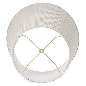 Creme Mushroom Pleat Lamp Shade 12x18x18 (Spider)