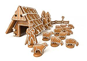 Tescoma Delicia - Juego de moldes para galletas para casa de jengibre
