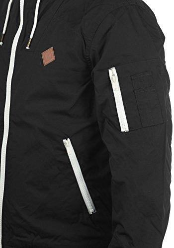 Chaqueta para Entretiempo Black con Tilly Solid 9000 Abrigo Capucha Hombre De R5ZnaxF
