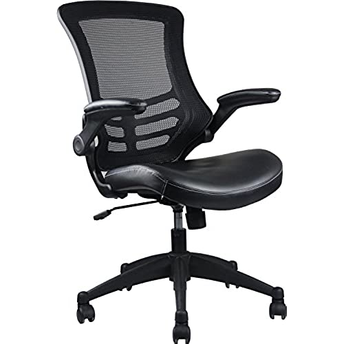 Stylish Mid Back Mesh Office Chair With Adjustable Arms. Color: Black