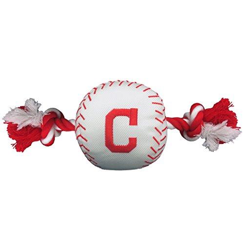 Pets First MLB Cleveland Indians Dog Nylon Baseball Rope Toy (Dog Indian)