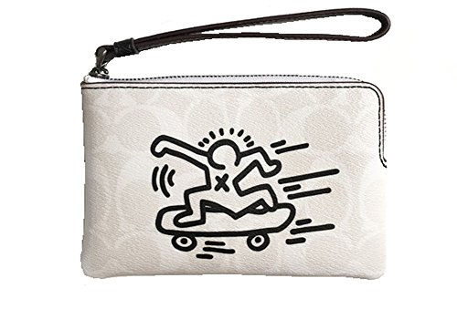 Coach Keith Haring Logo Corner Zip Wristlet, - Coach Usa Outlet