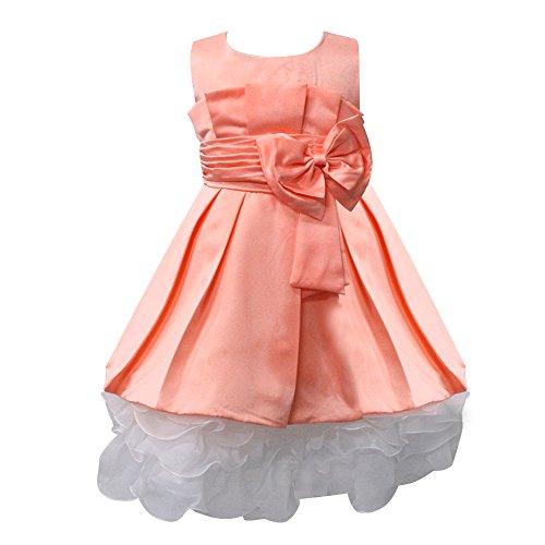 AMUR LEOPARD Girl Dress Floral Sleeveness Princess Fancy Dress Wedding Party Dress