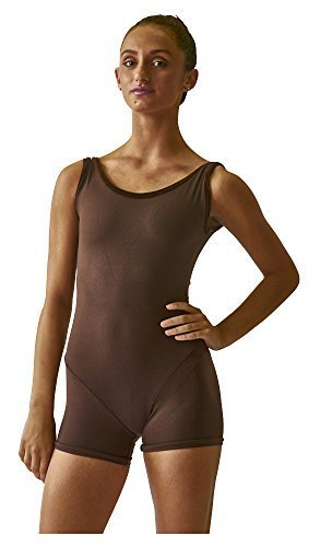 Steelcore Women's Short Unitard with Velvet Trim Extra Small Chocolate by Steel Core