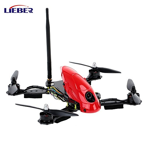 Lieber HAWK 280MM Professional 4 A-xis RC Drone with HD Camera 6 Gyro All-in-one Flight Control System FPV Racing Drone - Red