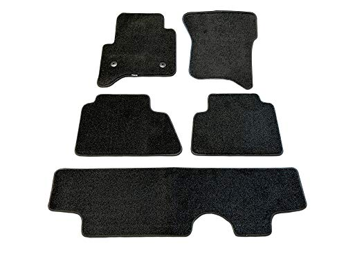 CarsCover Custom Fit 2015-2019 Chevy Tahoe Front Row, 2nd Row, and Rear Row Carpet Car SUV Floor Mats Heavy Cushion Ultramax Asphalt Black