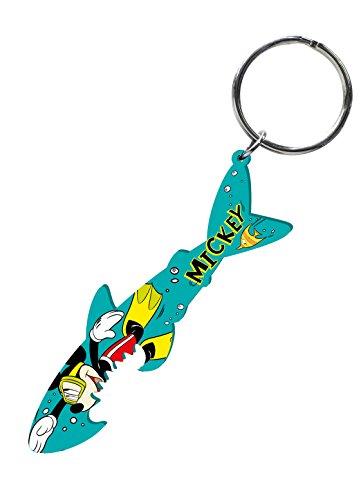 Disney Mickey and Gang Shark Diving Bottle Opener Key Ring