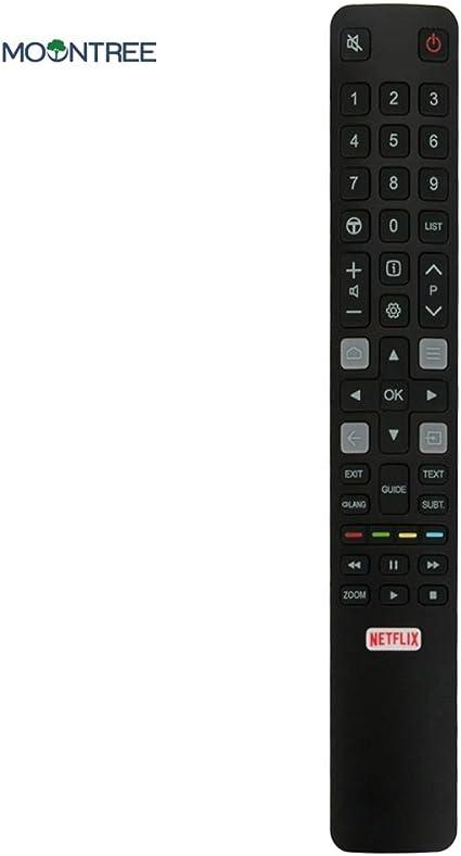 Calvas ARC802N RC802N - Mando a distancia para televisor TCL YUI 149C2US 55C2US con Netflix Smart TV, control remoto único de 433 MHz: Amazon.es: Bricolaje y herramientas