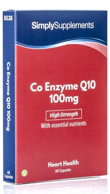 Coenzima Q10 100mg Ubiquinona - 60 cápsulas - Hasta 2 meses de suministro - Aumenta los