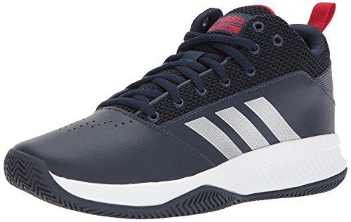 adidas Men's CF Ilation 2.0, Collegiate Navy/Matte Silver/Scarlet, 9 M US