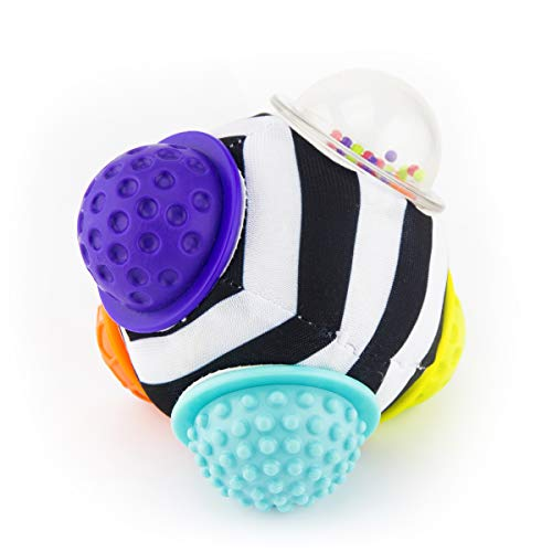 Sassy Chime & Chew Textured Ball Developmental Toy for Ages 0+ Months
