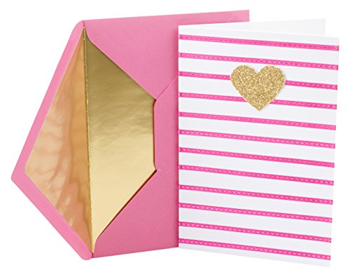 Hallmark Signature Birthday Card for Her (Heart and Stripes)