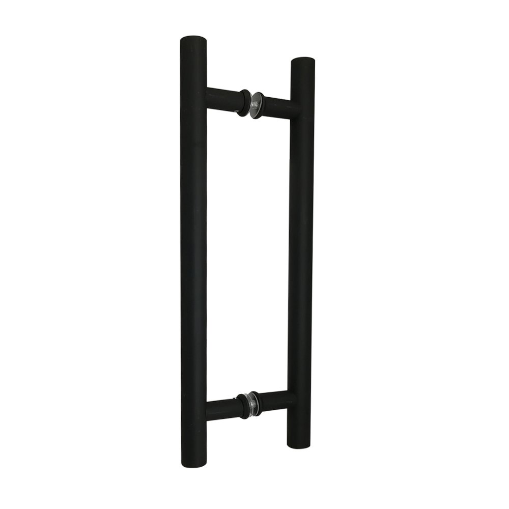 16'' Back to Back Matte Black Bar Pull Handle Double Side Ladder Style for Barn Door Hardware