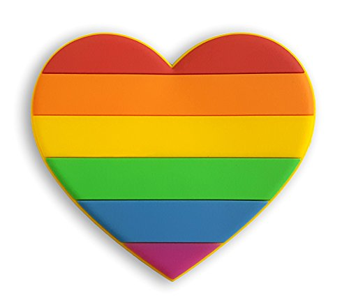 Pinsanity Rainbow Heart Refrigerator Magnet