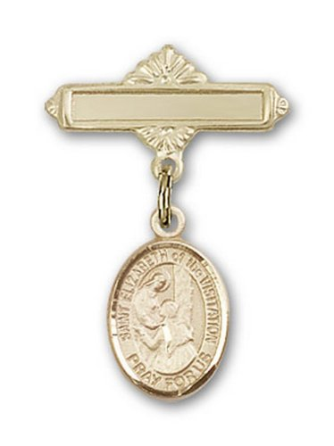 Icecarats Or Bijoux De Créateurs Rempli R. Elizabeth De La Visite Charme Broche De Badge 1 X 5/8