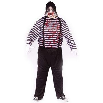 Maniacal Mime Adult Plus Costume -