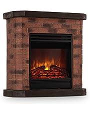 KLARSTEIN Elektrischer Kamin - Elektro-Kamin, Kamin elektrisch, 1800 Watt, Flammeneffekt, Steindekor, Polystone, Fernbedienung