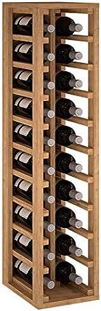 ZonaWine - Botellero 2 columnas en Madera de Pino o Roble para 20 Botellas. Medidas: 105/24/32 cm - Roble Macizo