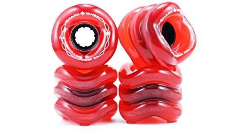 Shark Wheel California Roll (60mm 78a) Skateboard Wheel (Transparent Red)