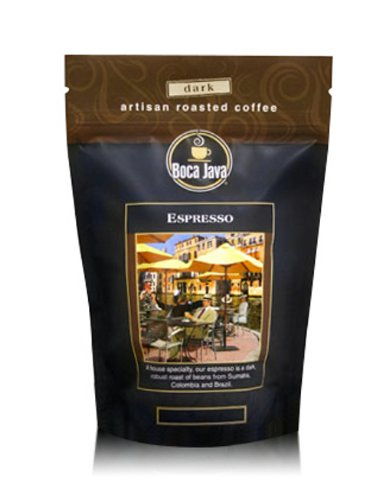 Espresso, Dark Roast Espresso Beans, Ground, 8oz (2 Pack) ()