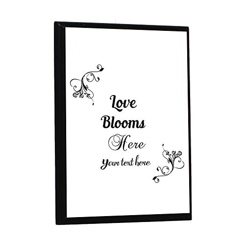 (Custom Home Decor Wall Plaque Sign Memorial Love Blooms Here... Wood Wall Art Picture Frame 7x9inches)
