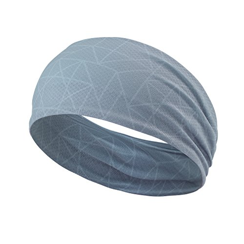 Headbands for Men - Stretch Moisture Wicking Workout Hair Band Ideal for Running, Basketball, Tennis, Yoga Sports Headband