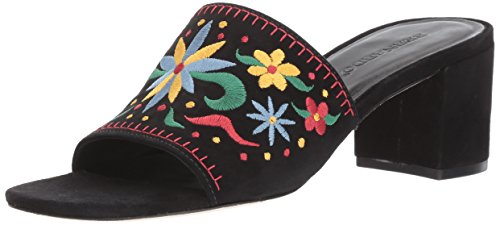 Embroidered Bernardo Multi Suede Black Heeled Bailey Sandal Women's x0frqw0YP