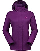 CAMEL CROWN Womens Waterproof Rain Jacket...