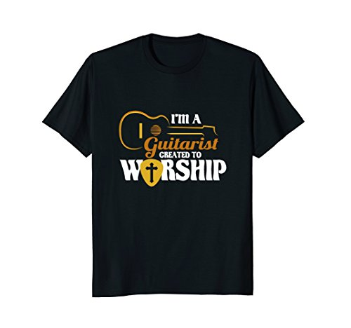 Christian T-Shirt. I'm A Guitarist Created To Worship Tee -
