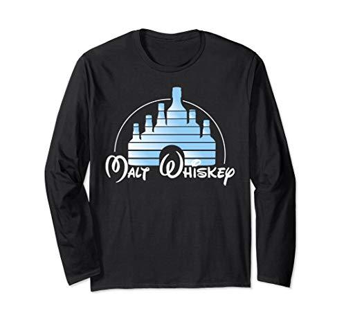 Malt Whiskey Shirt, Funny Gift Idea Logo Parody Long Sleeve ()