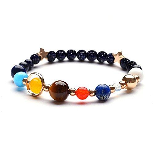 Solar System Bracelet the Eight Planets Guardian Universe Galaxy Gemstone Beads Bracelet for Women Men